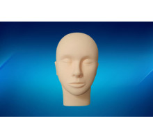 Head mannequin for training eyelash extension