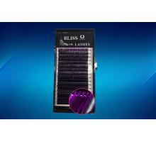 Ресницы BLISS ОМБРЕ Фиолетовые с черным основанием